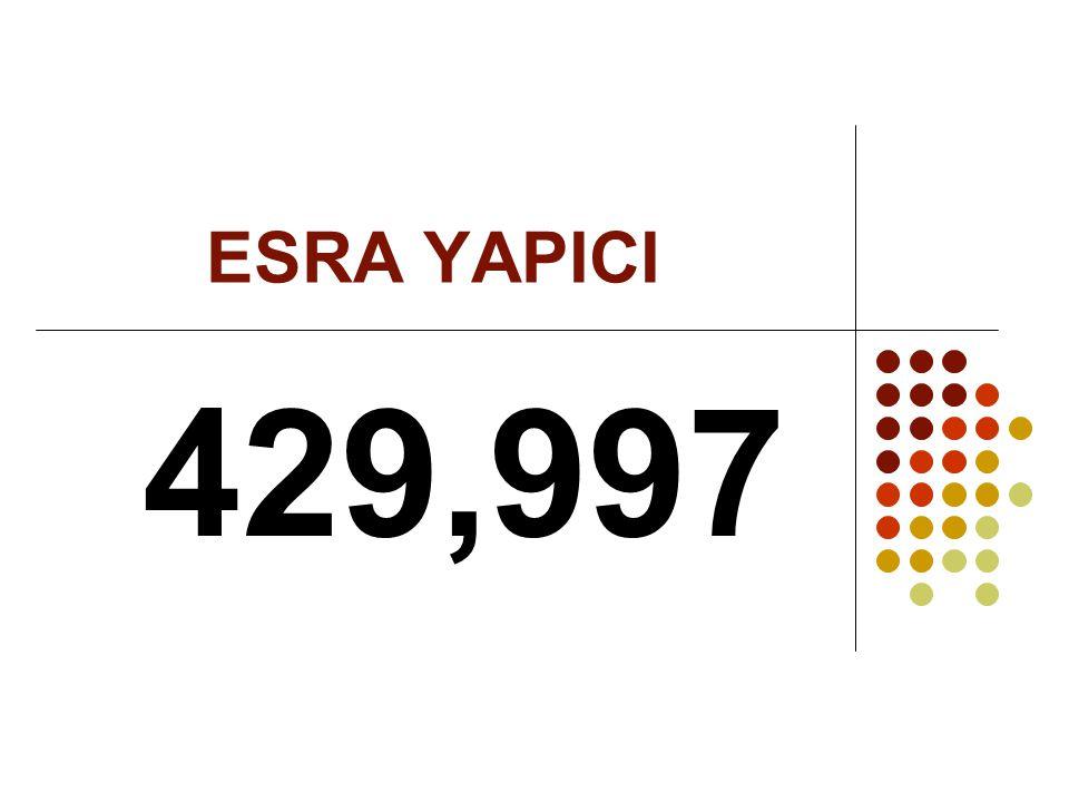 ESRA YAPICI 429,997