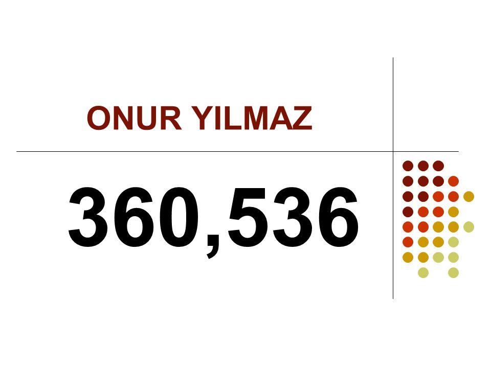 ONUR YILMAZ 360,536