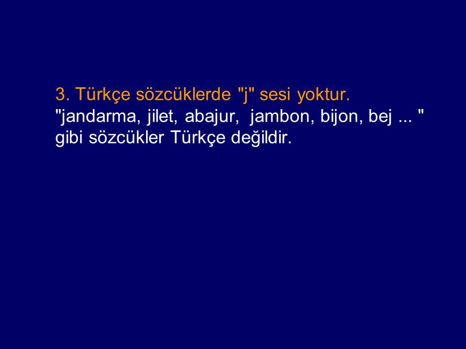 3. Türkçe sözcüklerde