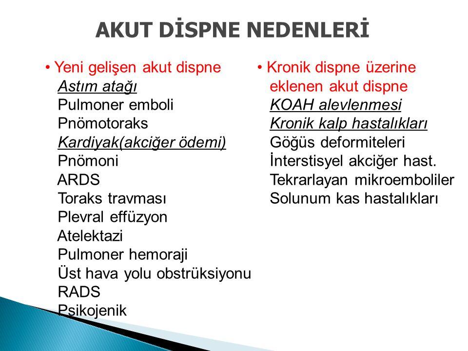  Deri, kas, eklem tutulumu: Tip I (Hafif)  Tüm sistemlerin tutulumu: Tip II (Ağır)  Kardiyopulmoner tutulum: - Nefes darlığı ve göğüste sıkışma hissi - Retrosternal ağrı - Öksürük - Halsizlik - Asfiksi - Şok, ölüm  Pulmoner gaz embolisi, interstisyel ödem, pulmoner HT, sağ ventrikül yüklenmesi DEKOMPRESYON HASTALIĞI-KLİNİK