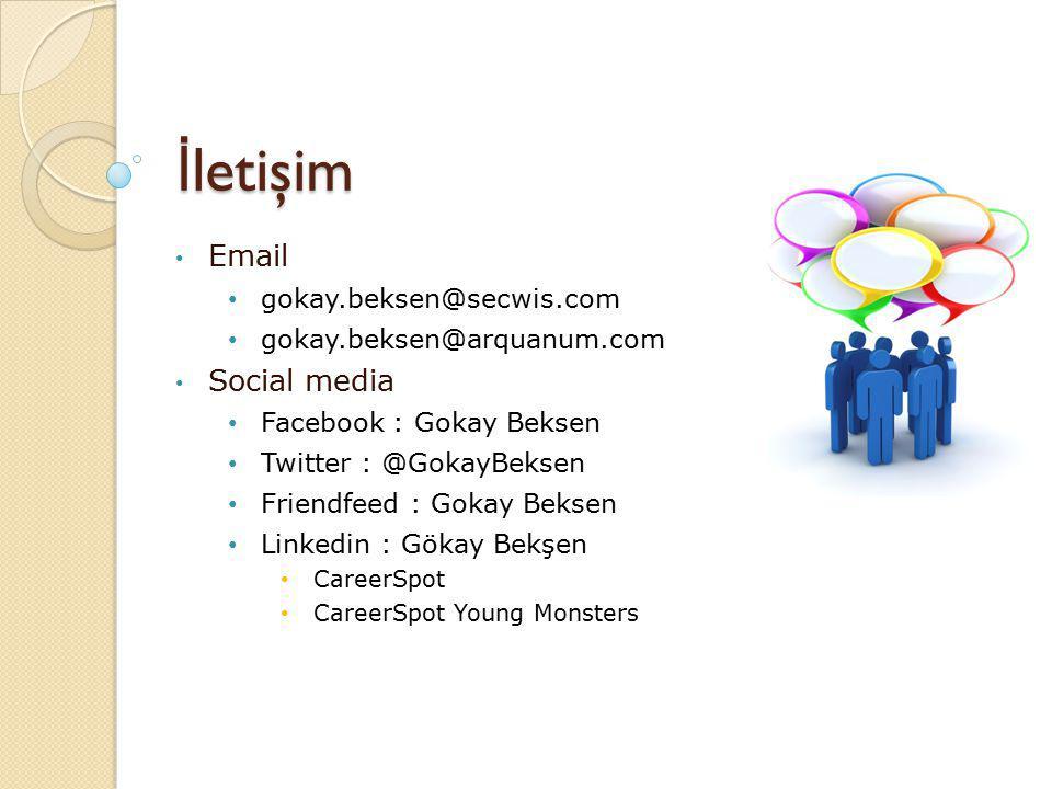 İ letişim Email gokay.beksen@secwis.com gokay.beksen@arquanum.com Social media Facebook : Gokay Beksen Twitter : @GokayBeksen Friendfeed : Gokay Beksen Linkedin : Gökay Bekşen CareerSpot CareerSpot Young Monsters