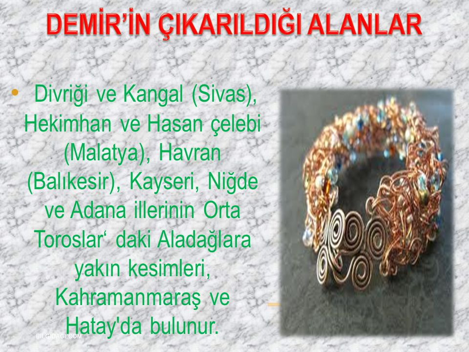Divriği ve Kangal (Sivas), Hekimhan ve Hasan çelebi (Malatya), Havran (Balıkesir), Kayseri, Niğde ve Adana illerinin Orta Toroslar' daki Aladağlara ya