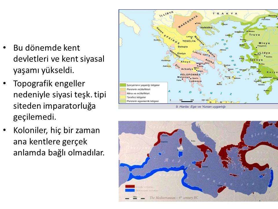 Bu dönemde kent devletleri ve kent siyasal yaşamı yükseldi.