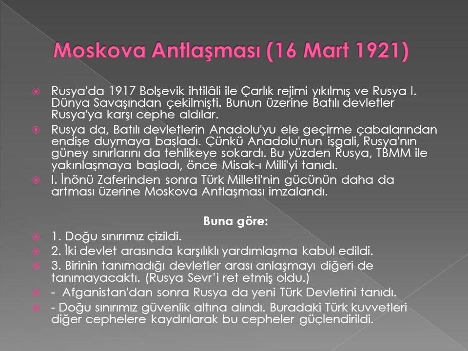  Londra Konferansında yeni Türk Devletine isteklerini kabul ettiremeyen itilâf Devletleri Yunanistan ı yeniden saldırıya geçirttiler.