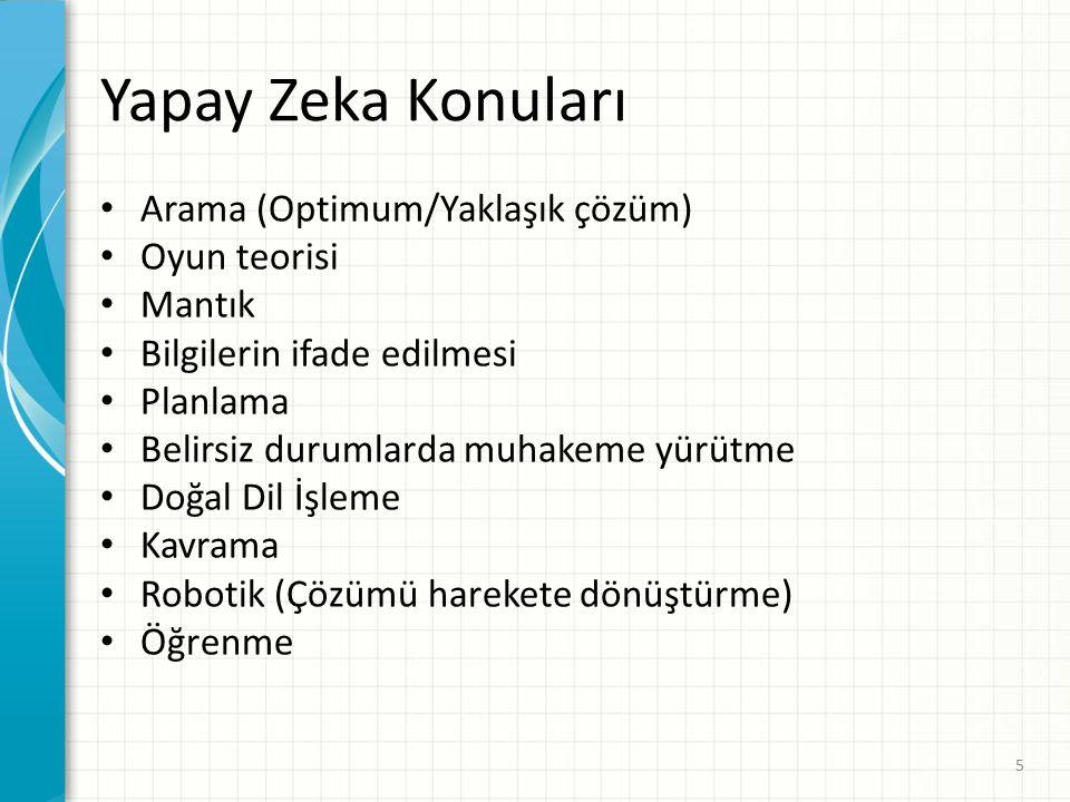 Sonuç Yapay Zeka, zeki bilgisayar sistemlerinin tasarımı ile ilgilenen bilgisayar bilimidir.