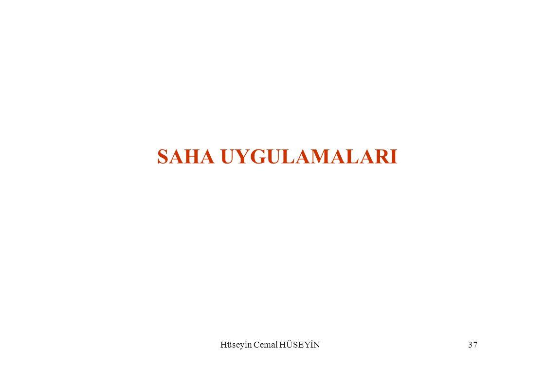 SAHA UYGULAMALARI Hüseyin Cemal HÜSEYİN37
