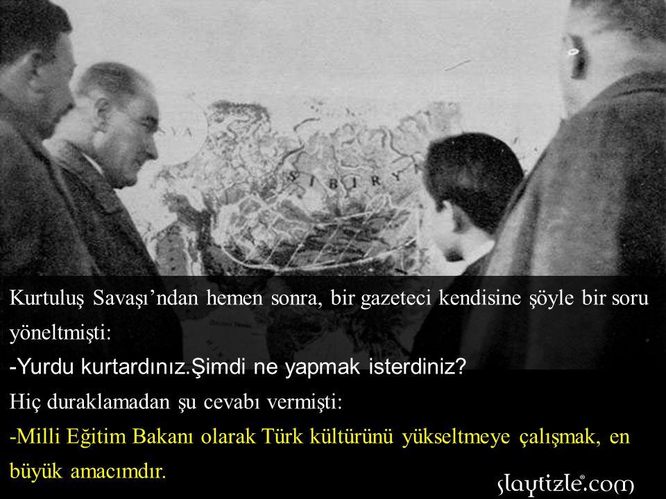 Harf inkîlabından sonra Atatürk'ün kara tahta başındaki resmi görülünce, O'na başöğretmen denilmeye başlandı.