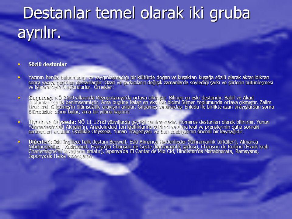 YAZILI EDEBİYAT İslam öncesi Türk edebiyatına ait, bilinen yazılı ürün çok azdır.