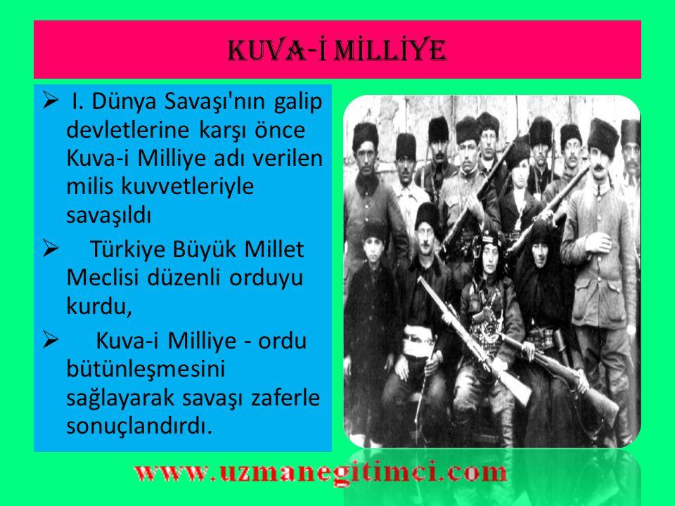 T.B.M.M BA Ş KANLI Ğ I SÜREC İ  23 Nisan 1920'de TBMM açıldı  Meclis ve Hükümet Başkanlığına Mustafa Kemal seçildi  Türkiye Büyük Millet Meclisi, K