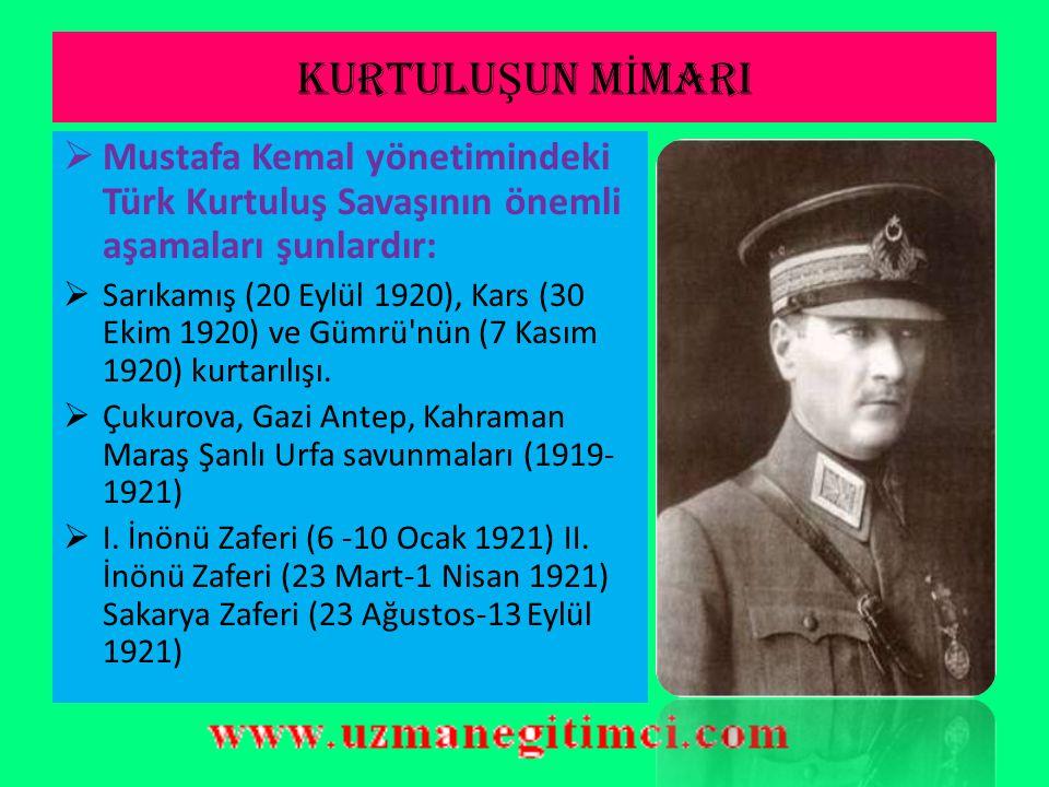 KUVA- İ M İ LL İ YE  I. Dünya Savaşı'nın galip devletlerine karşı önce Kuva-i Milliye adı verilen milis kuvvetleriyle savaşıldı  Türkiye Büyük Mille