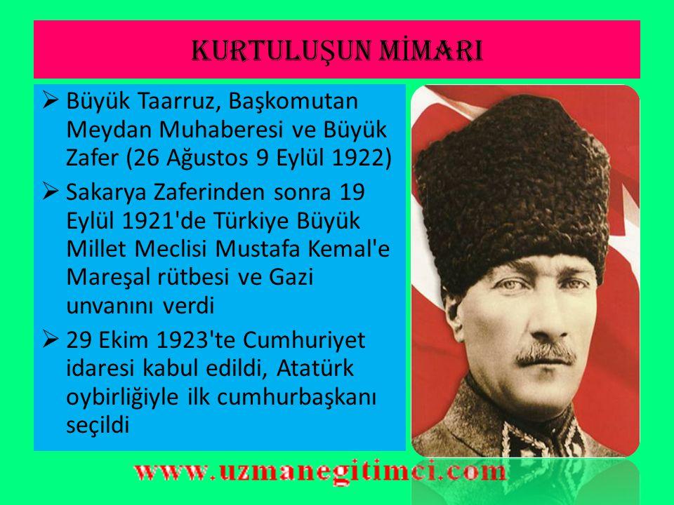 KURTULU Ş UN M İ MARI  Mustafa Kemal yönetimindeki Türk Kurtuluş Savaşının önemli aşamaları şunlardır:  Sarıkamış (20 Eylül 1920), Kars (30 Ekim 192