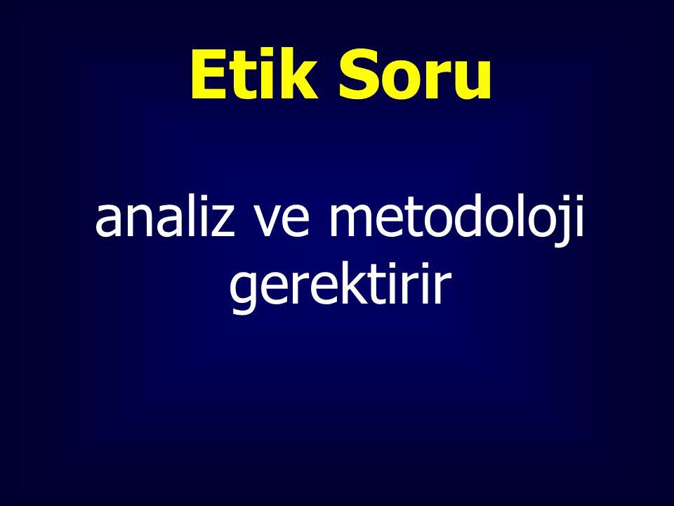 Etik Soru analiz ve metodoloji gerektirir