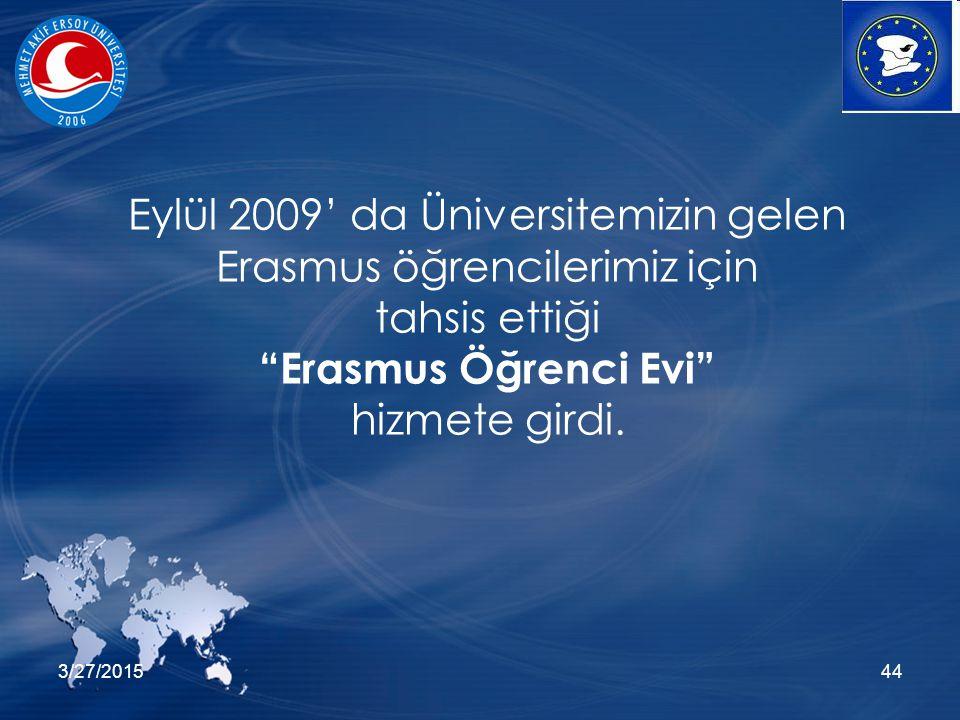 3/27/201544 Eylül 2009' da Üniversitemizin gelen Erasmus öğrencilerimiz için tahsis ettiği Erasmus Öğrenci Evi hizmete girdi.