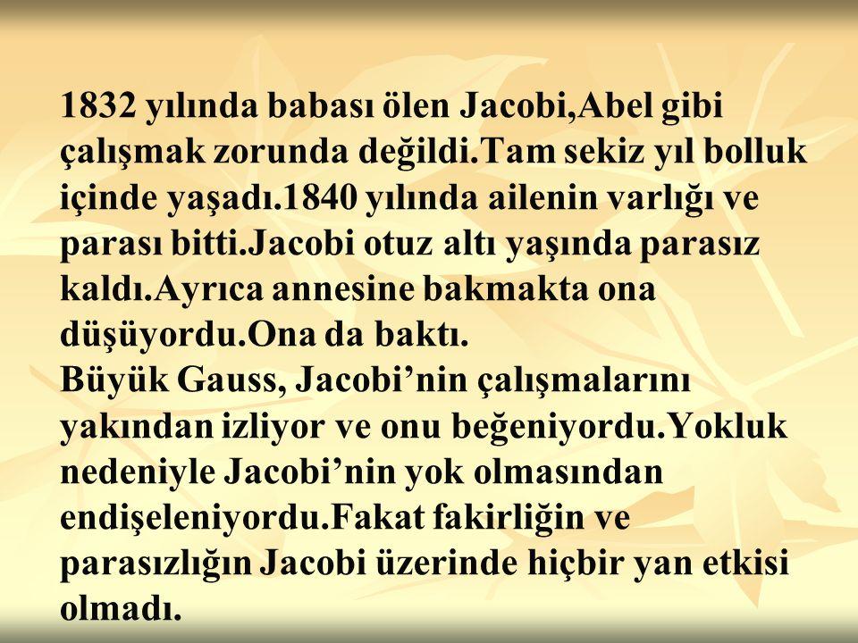 Jacobi, meslek yaşamının dışında da ünlü olmak istiyordu.
