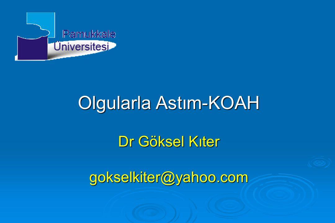  Dr Aylin Hanım, hastasına KOAH tanısını söyleyerek sigarayı kesinlikle bırakması gerektiğini vurguladı.