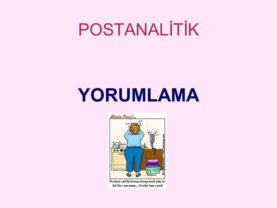 POSTANALİTİK YORUMLAMA
