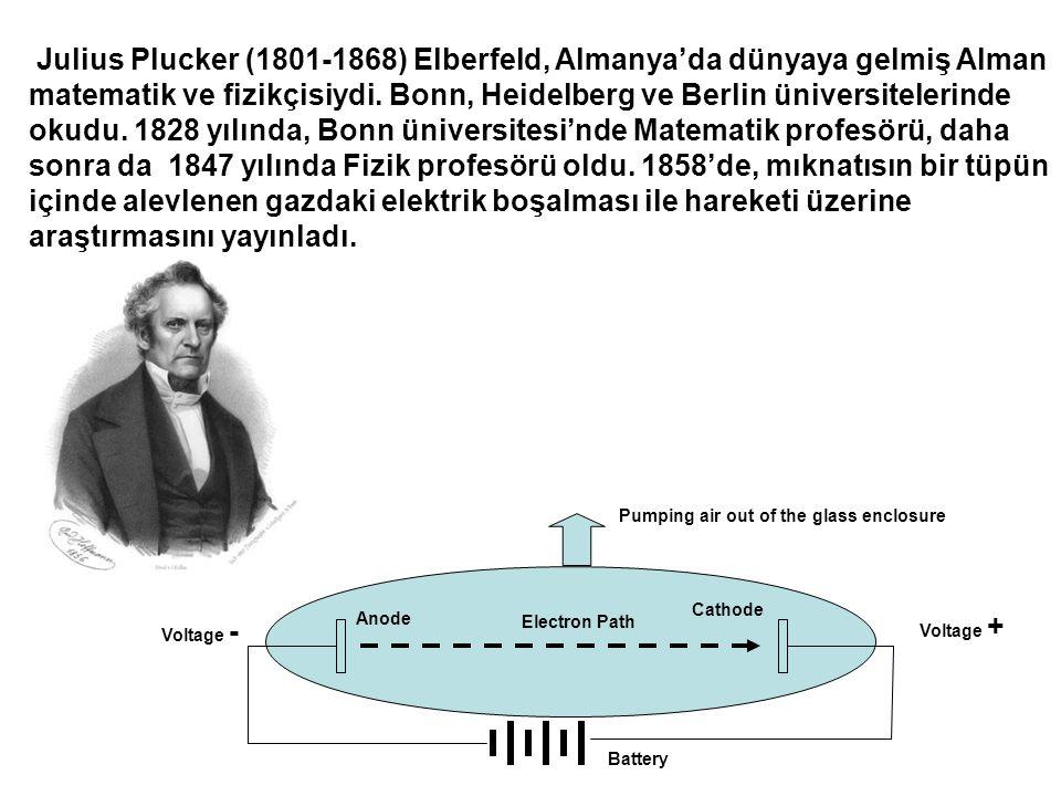 Julius Plucker (1801-1868) Elberfeld, Almanya'da dünyaya gelmiş Alman matematik ve fizikçisiydi.