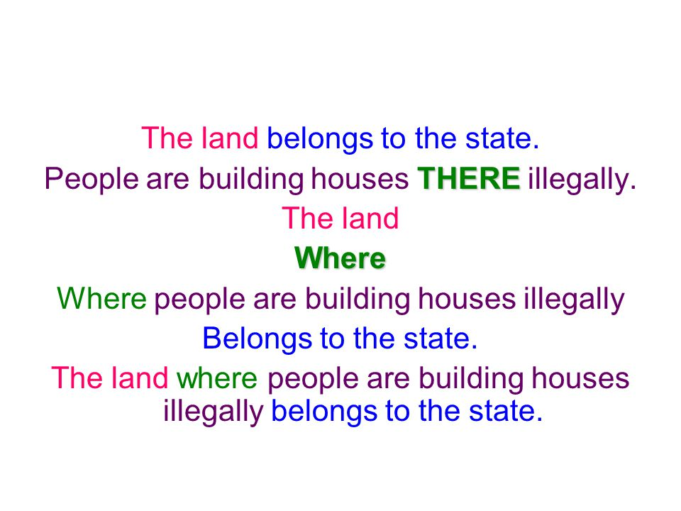 The land belongs to the state.People are building houses T TT THERE illegally.