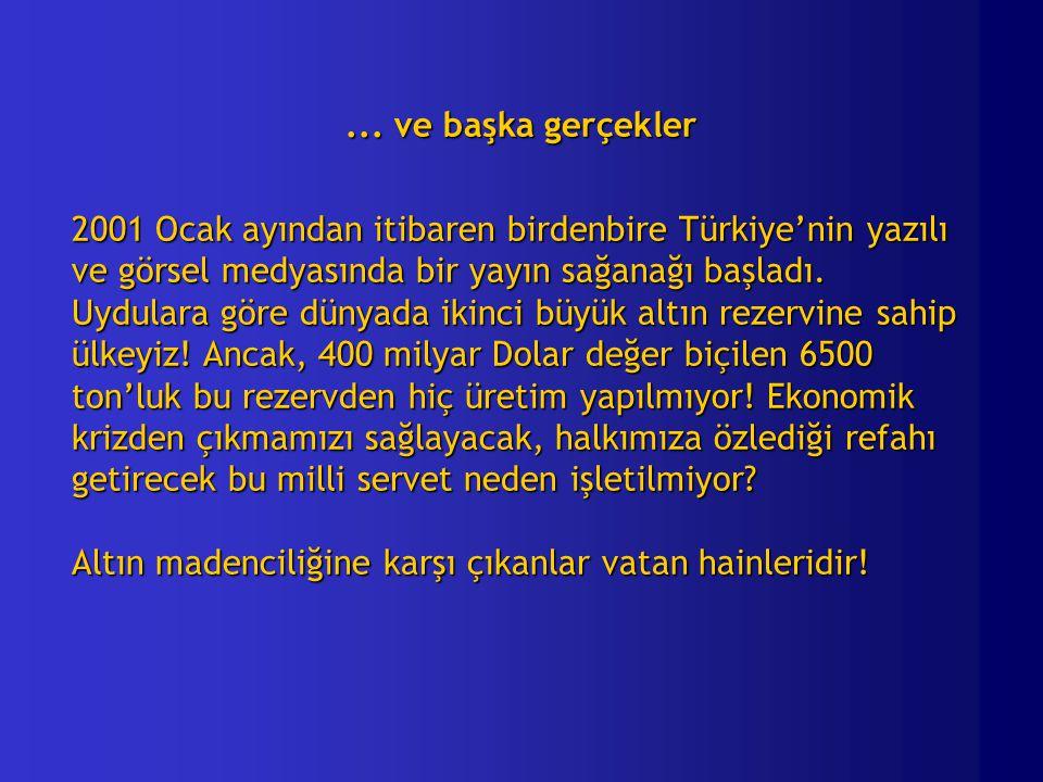 ... ve başka gerçekler 2001 Ocak ayından itibaren birdenbire Türkiye'nin yazılı ve görsel medyasında bir yayın sağanağı başladı. Uydulara göre dünyada