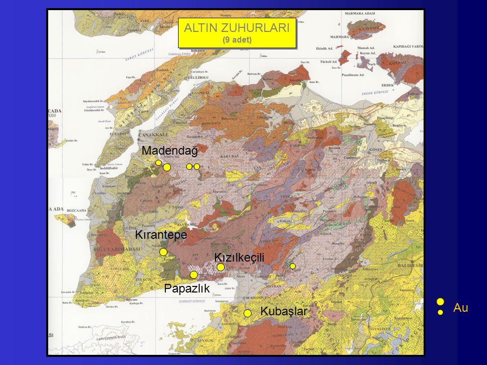 Kubaşlar Kırantepe Madendağ Papazlık Kızılkeçili ALTIN ZUHURLARI (9 adet) ALTIN ZUHURLARI (9 adet) Au