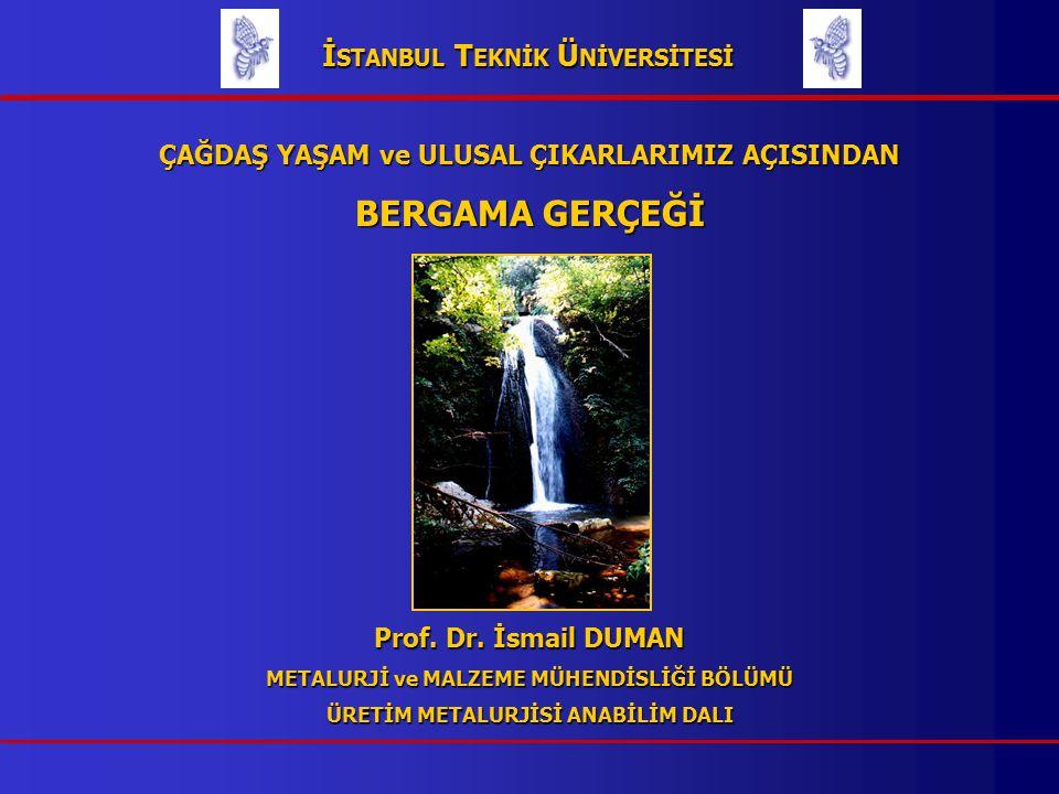 ÇAĞDAŞ YAŞAM ve ULUSAL ÇIKARLARIMIZ AÇISINDAN BERGAMA GERÇEĞİ Prof.