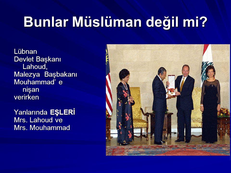 BUNLAR MÜSLÜMAN! Türkiye Cumhuriyeti Başbakanı Recep Tayyip Erdoğan ve eşi Emine Erdoğan