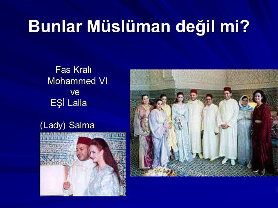 Bunlar Müslüman değil mi Mısır Devlet Başkanını EŞİ Mrs. Mubarak