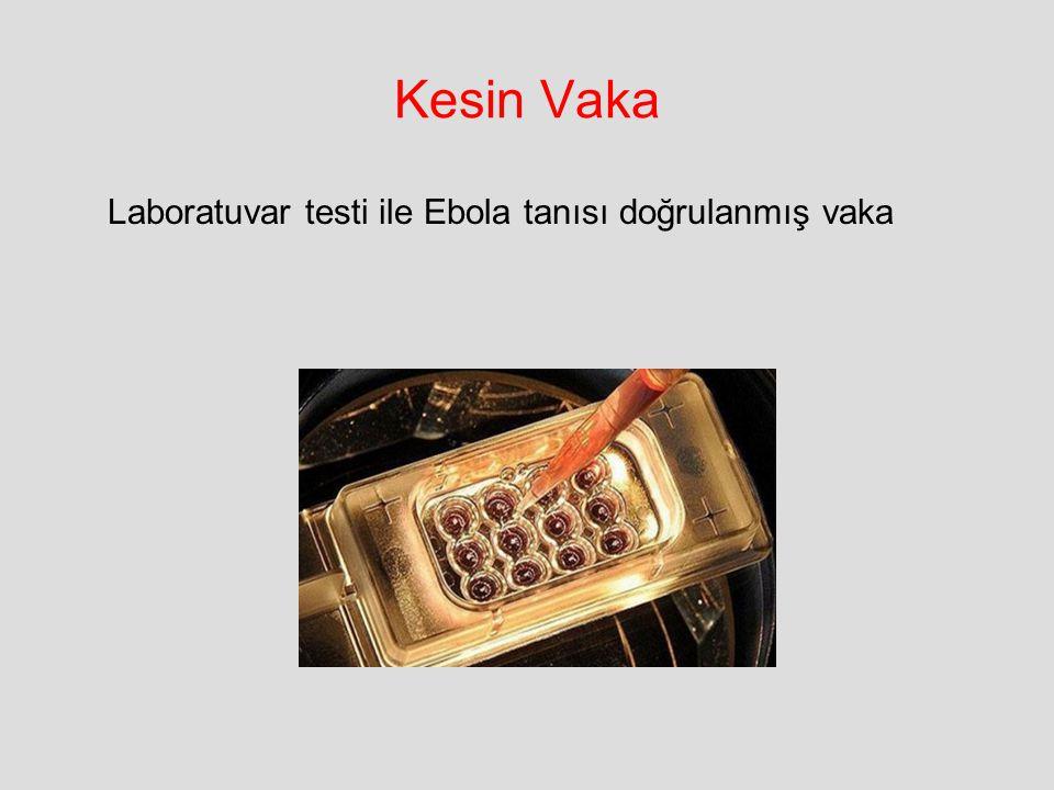 Kesin Vaka Laboratuvar testi ile Ebola tanısı doğrulanmış vaka