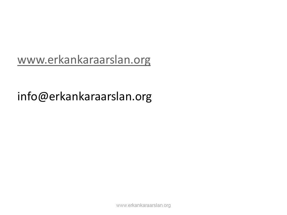 info@erkankaraarslan.org www.erkankaraarslan.org