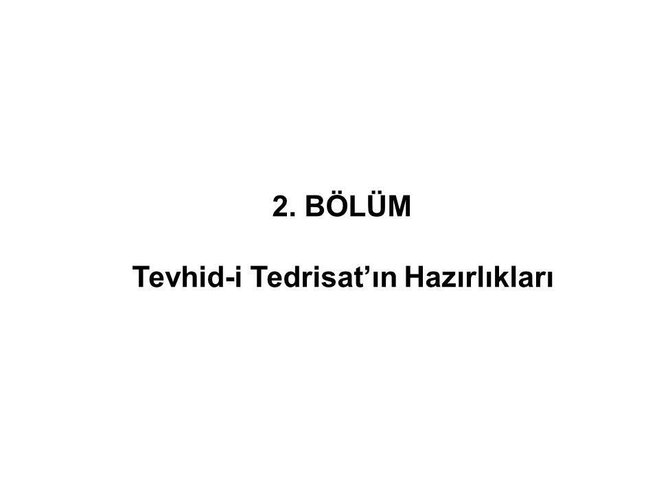 Tevhid-i Efkâr gazetesi medreseleri savunarak 3 Mart Kânûnu da medreselerin lağvının olmadığını iddia ediyordu.