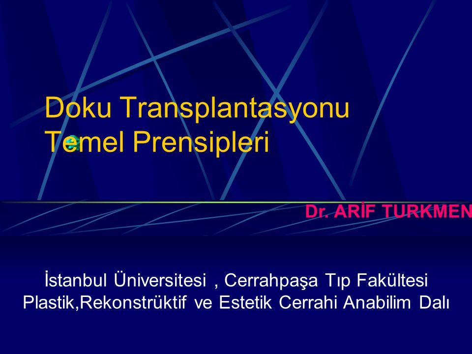 Doku Transplantasyonu Temel Prensipleri Dr.