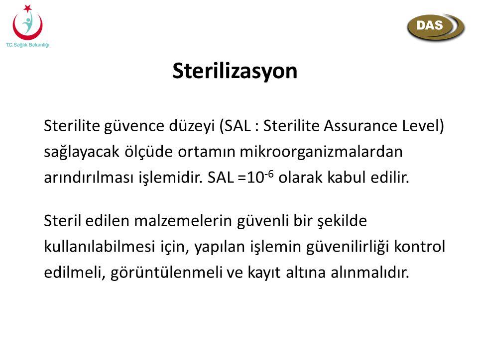 Sterilite güvence düzeyi (SAL : Sterilite Assurance Level) sağlayacak ölçüde ortamın mikroorganizmalardan arındırılması işlemidir. SAL =10 -6 olarak k