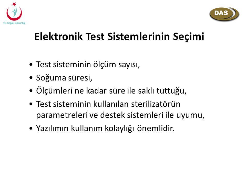 Elektronik Test Sistemlerinin Seçimi Test sisteminin ölçüm sayısı, Soğuma süresi, Ölçümleri ne kadar süre ile saklı tuttuğu, Test sisteminin kullanıla
