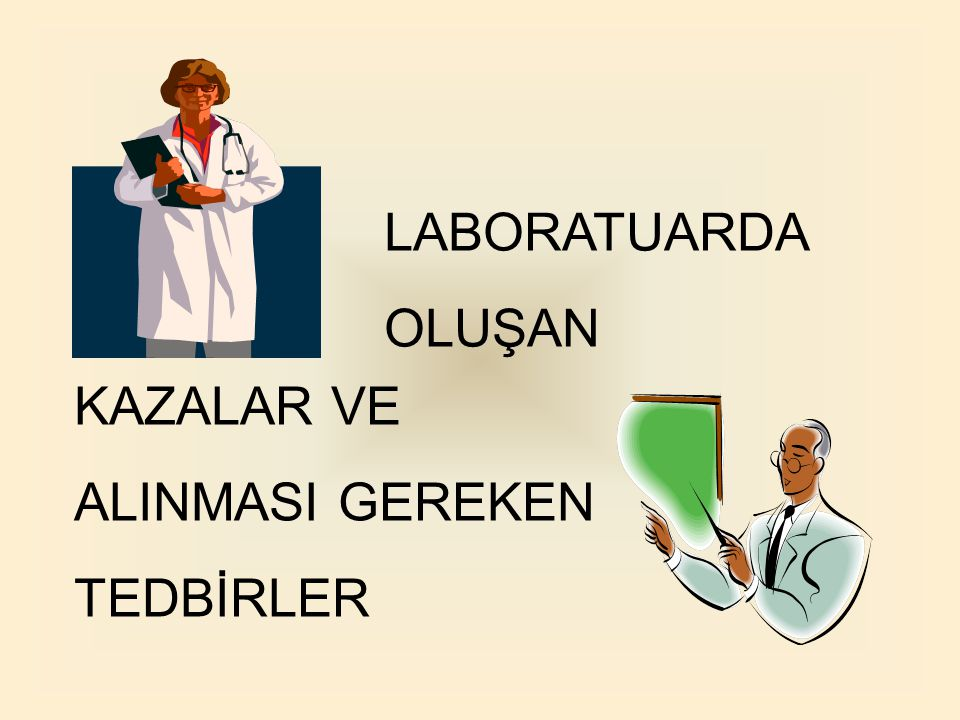 Kimya laboratuarında dikkatsiz çalışmalar kolayca kazaya sebep olabilir.
