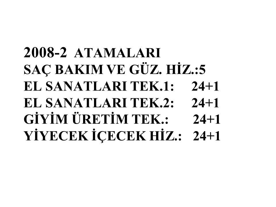2008-2 ATAMALARI SAÇ BAKIM VE GÜZ.