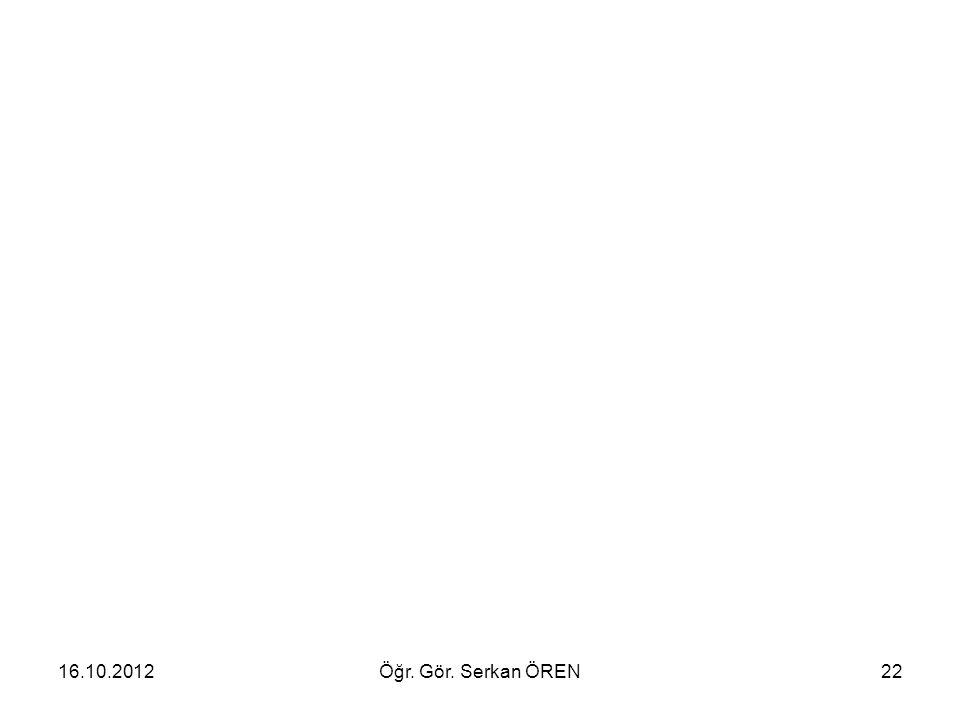 16.10.2012Öğr. Gör. Serkan ÖREN22