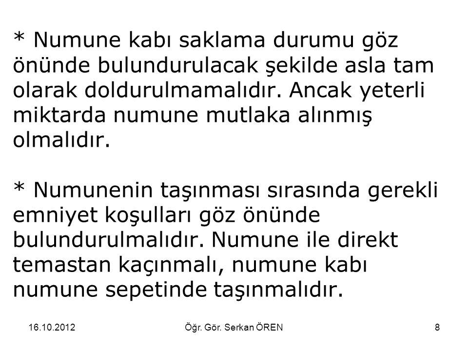 16.10.2012Öğr. Gör. Serkan ÖREN29