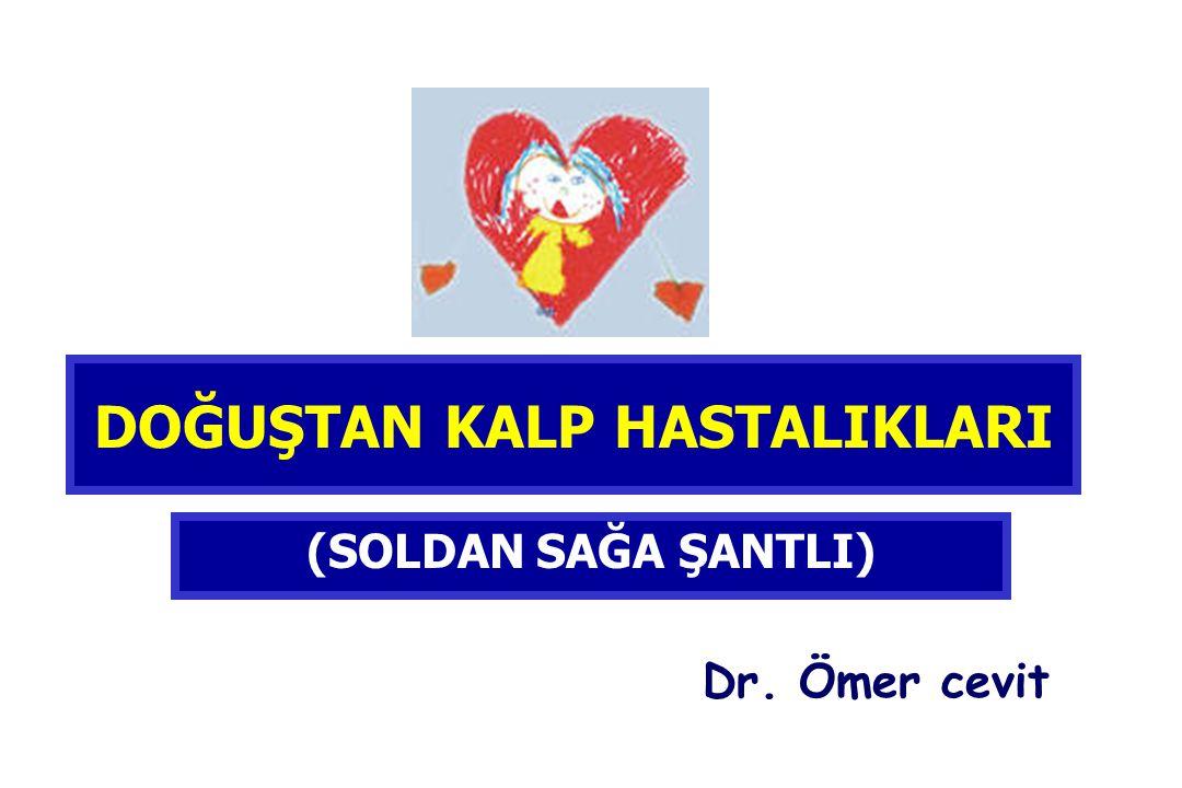 DOĞUŞTAN KALP HASTALIKLARI (SOLDAN SAĞA ŞANTLI) Dr. Ömer cevit