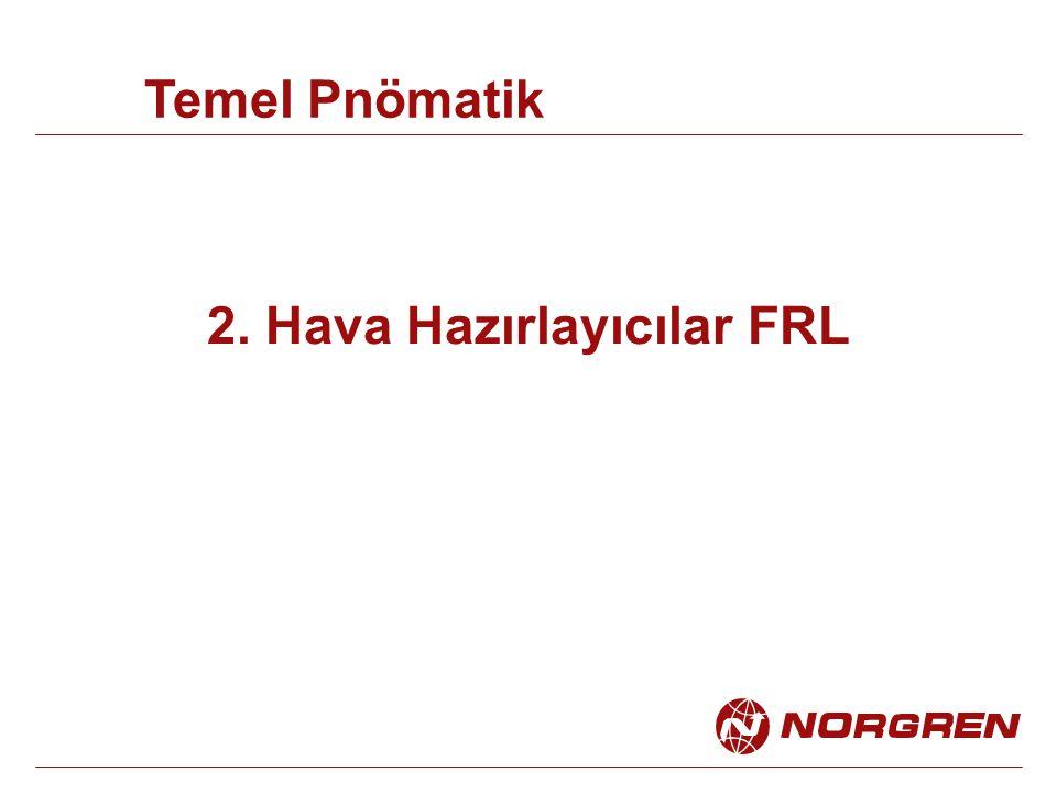 2. Hava Hazırlayıcılar FRL Temel Pnömatik