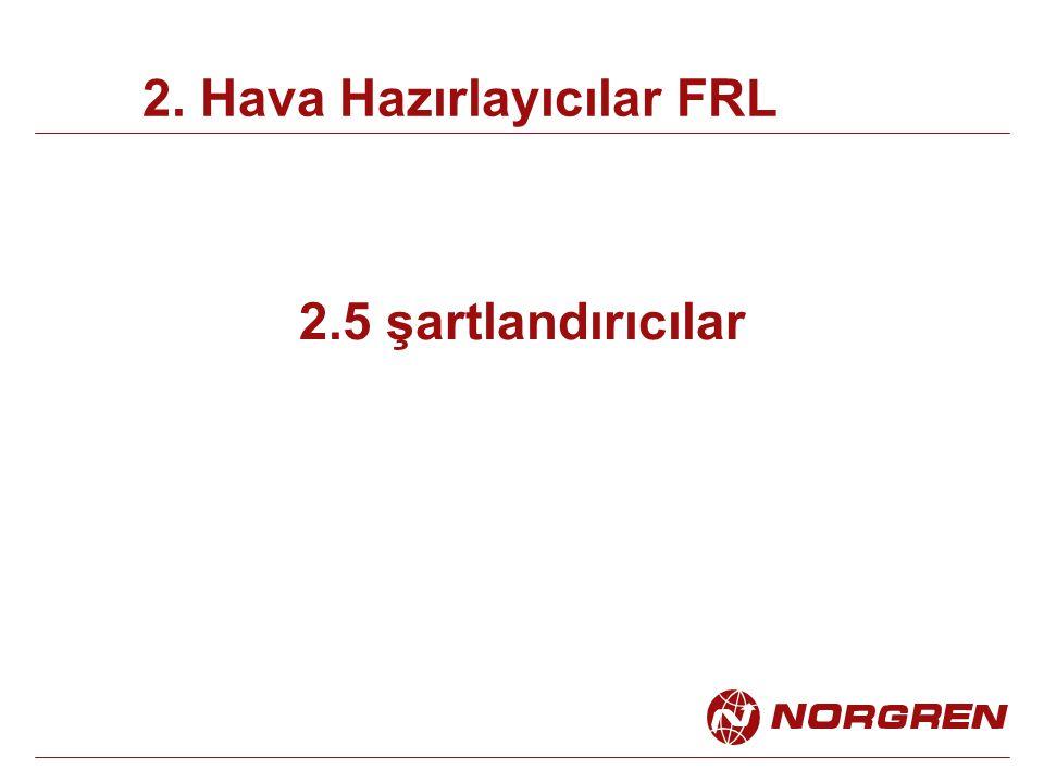 2.5 şartlandırıcılar 2. Hava Hazırlayıcılar FRL