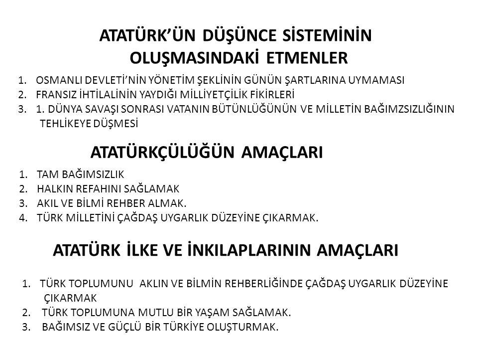 ATATÜRK İLKELERİ 2) MİLLİYETÇİLİK Atatürk'e göre millet; geçmişte bir arada yaşamış, bir arada yaşayan, gelecekte de bir arada yaşama inancında ve kararında olan, aynı vatana sahip, aralarında dil, kültür ve duygu birliği, olan insanlar topluluğudur.