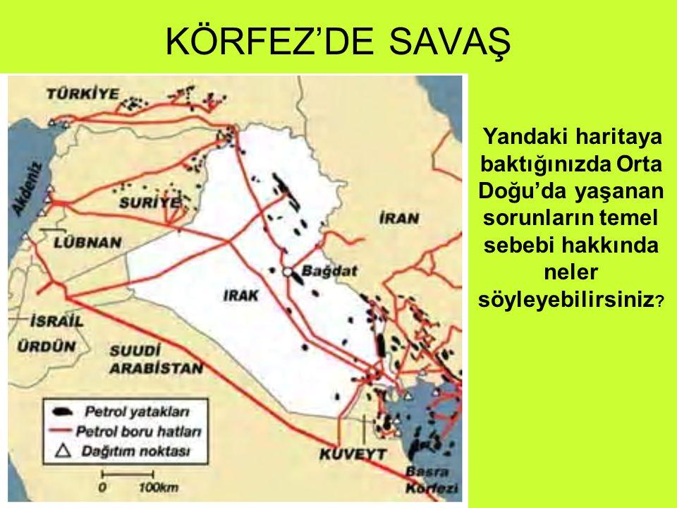Yandaki haritaya baktığınızda Orta Doğu'da yaşanan sorunların temel sebebi hakkında neler söyleyebilirsiniz ?