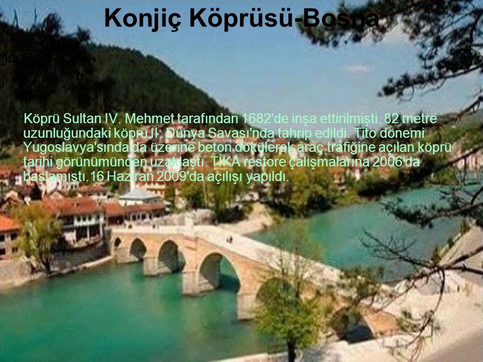 Drina Köprüsü Bosna Hersekte Sırbistan sınırına yakın Vişgrad (Vişegrad) kentinde Sava Nehrinin kolu olan Drina Irmağı üzerine 1571 senelerinde yaptır
