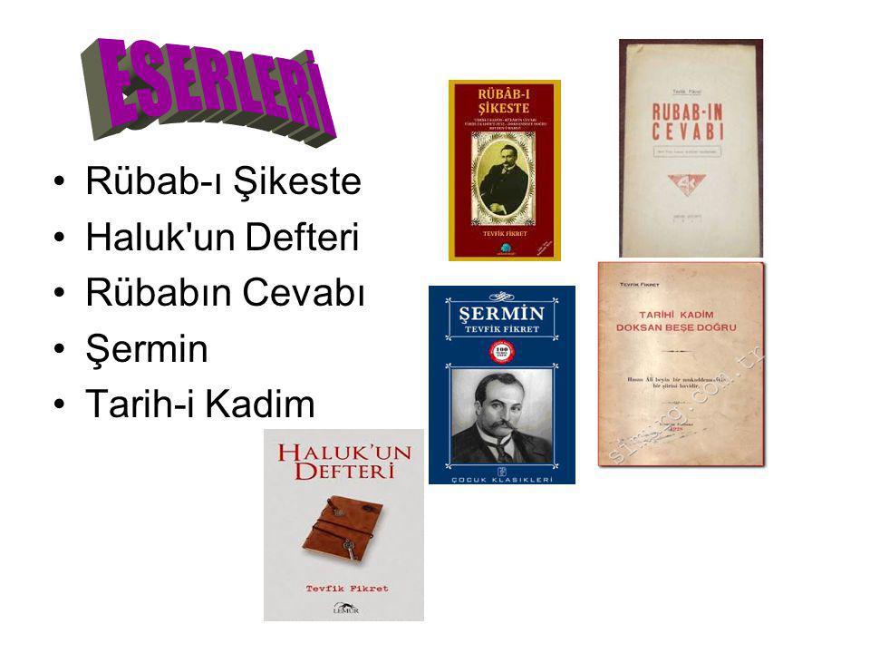 Rübab-ı Şikeste Haluk'un Defteri Rübabın Cevabı Şermin Tarih-i Kadim