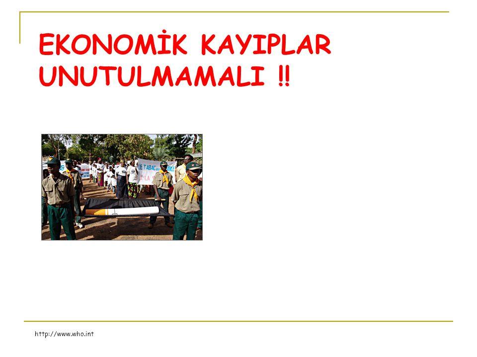 EKONOMİK KAYIPLAR UNUTULMAMALI !! http://www.who.int