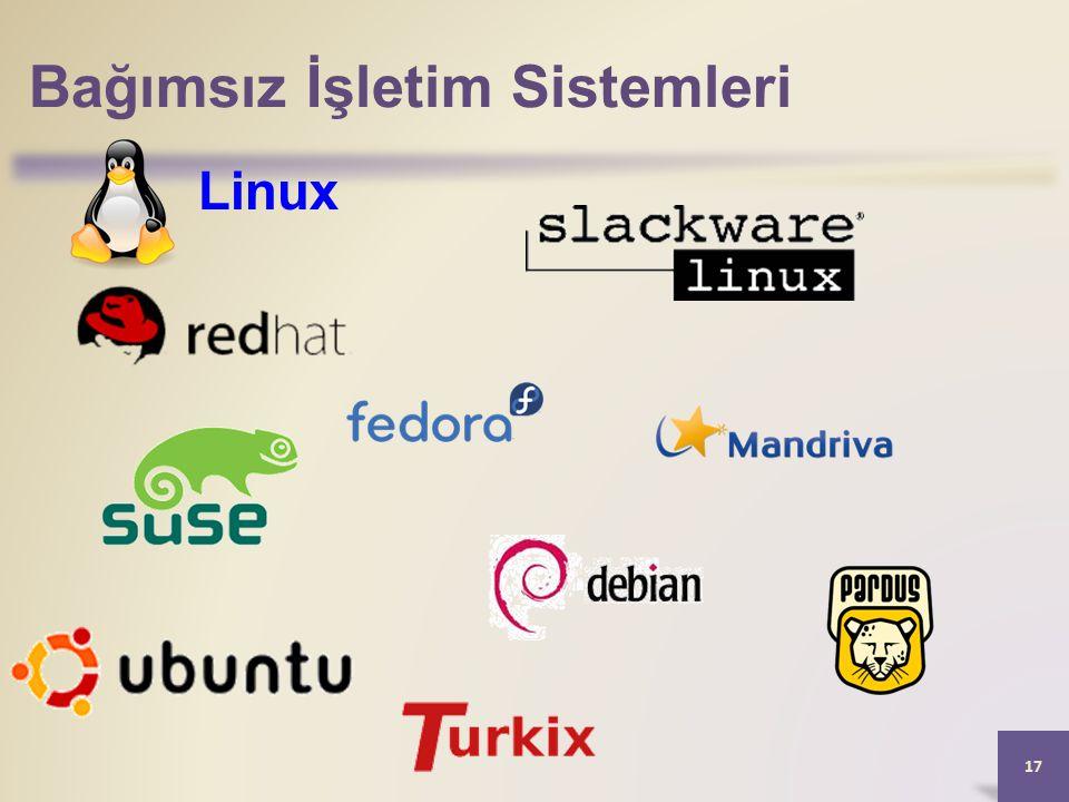 Bağımsız İşletim Sistemleri 17 Linux