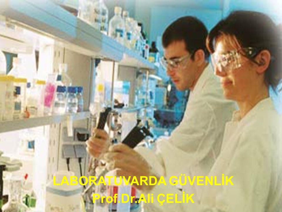 42 10) Laboratuarda bulunan hiç bir kimyasal madde koklanmamalı veya tadılmamalıdır.