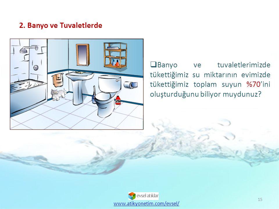 16  Bunun yerine 7 litrelik tuvalet rezervuarı ile su tüketimini 2,5-3 tona düşürebilmemiz mümkündür.