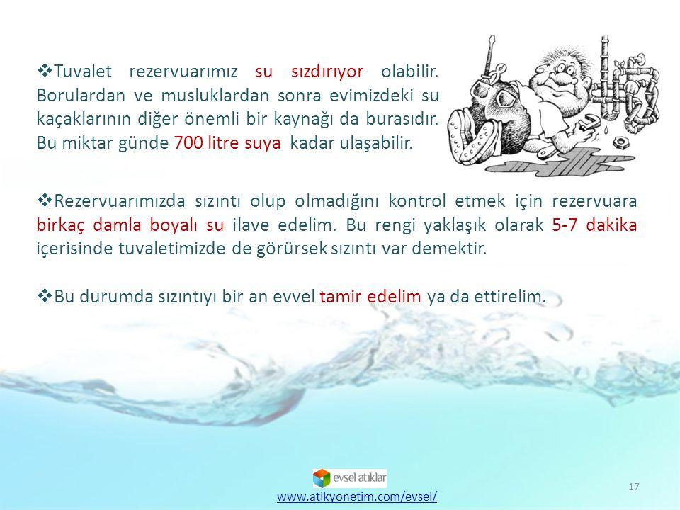 18  Banyo yerine duş alarak su tüketimimizi %25 azaltabiliriz.