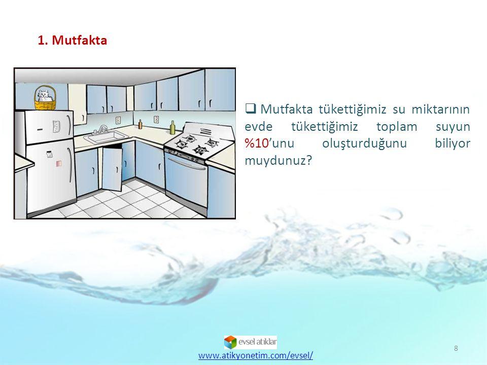 9  Suyu, içilebilecek kadar soğutmak için musluğumuzu boşa akıtmak yerine, buzdolabında soğuk su saklayabilir ya da buz kullanabiliriz.